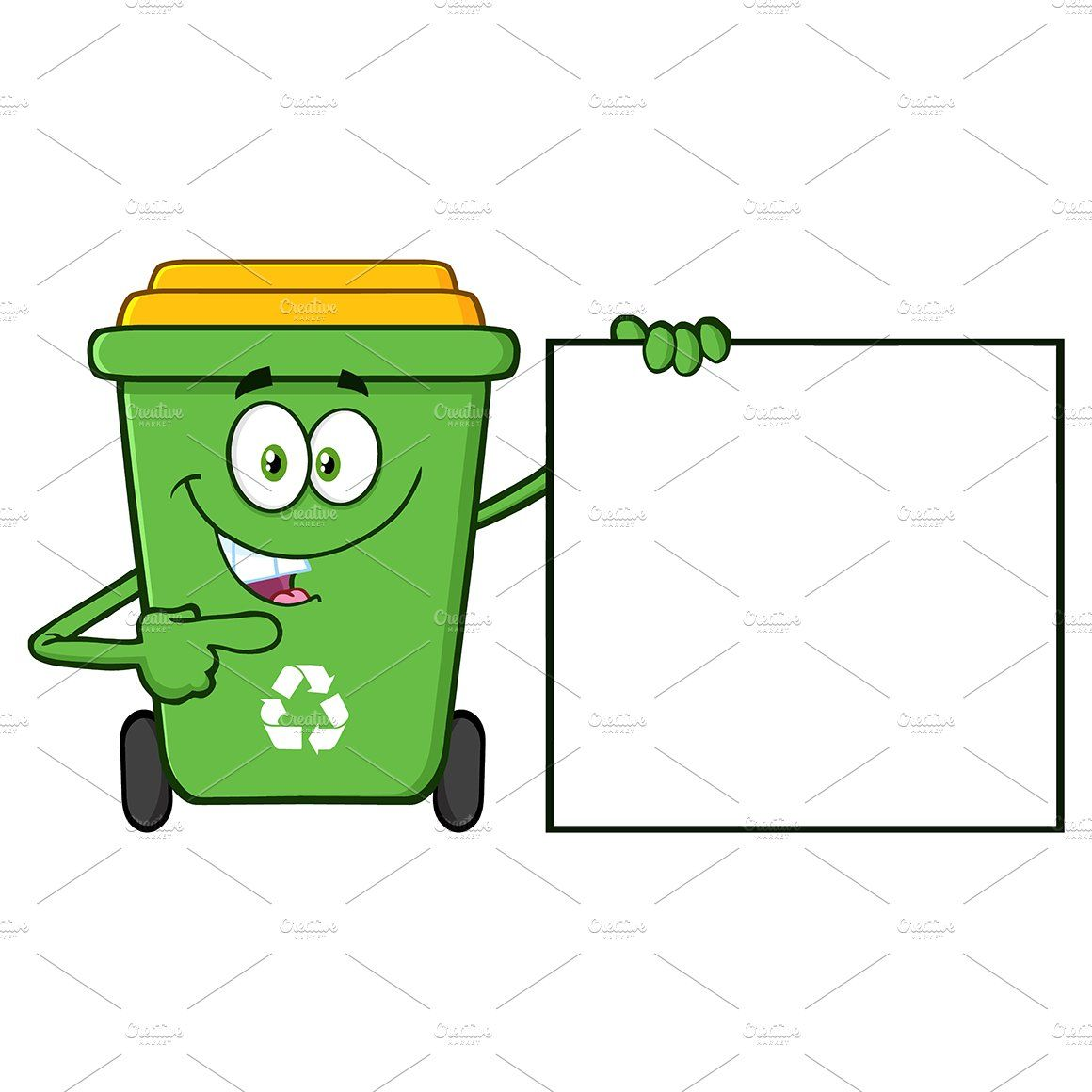 Green Recycle Bin Recycling Bins Recycling Page Borders Design