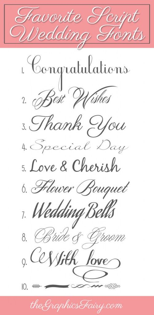 Favorite Script Wedding Fonts | Graphics fairy, Fonts and Graphics