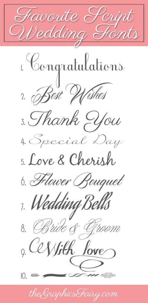 Favorite Script Wedding Fonts | Fonts | Cursive fonts ...