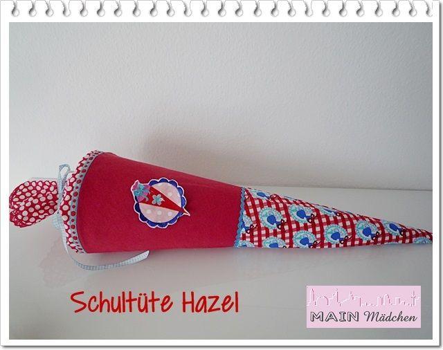 Schultüte Hazel aus Stoff MIT Kissen von Main Mädchen auf DaWanda.com