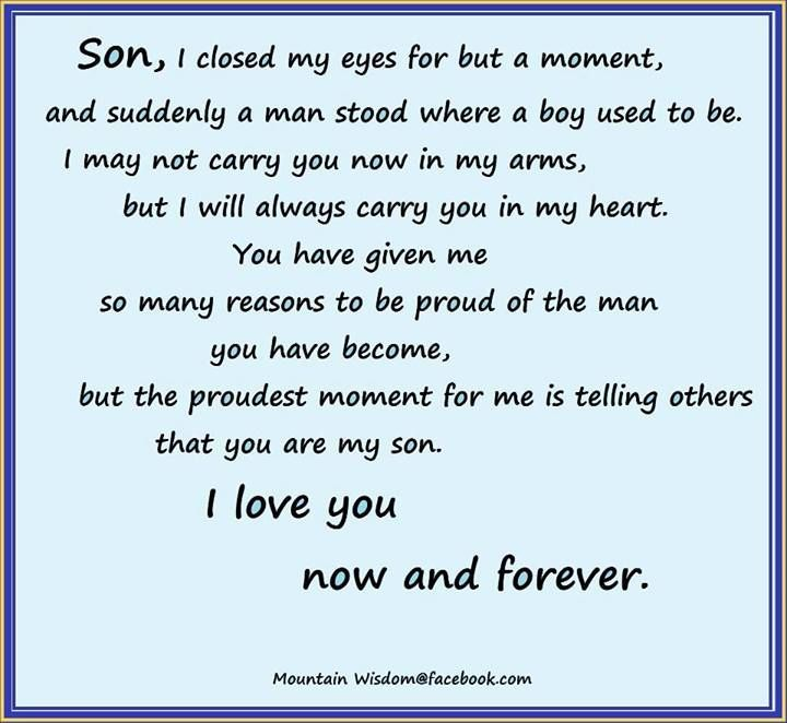 Proud Mother To Son Quotes. QuotesGram by @quotesgram | family