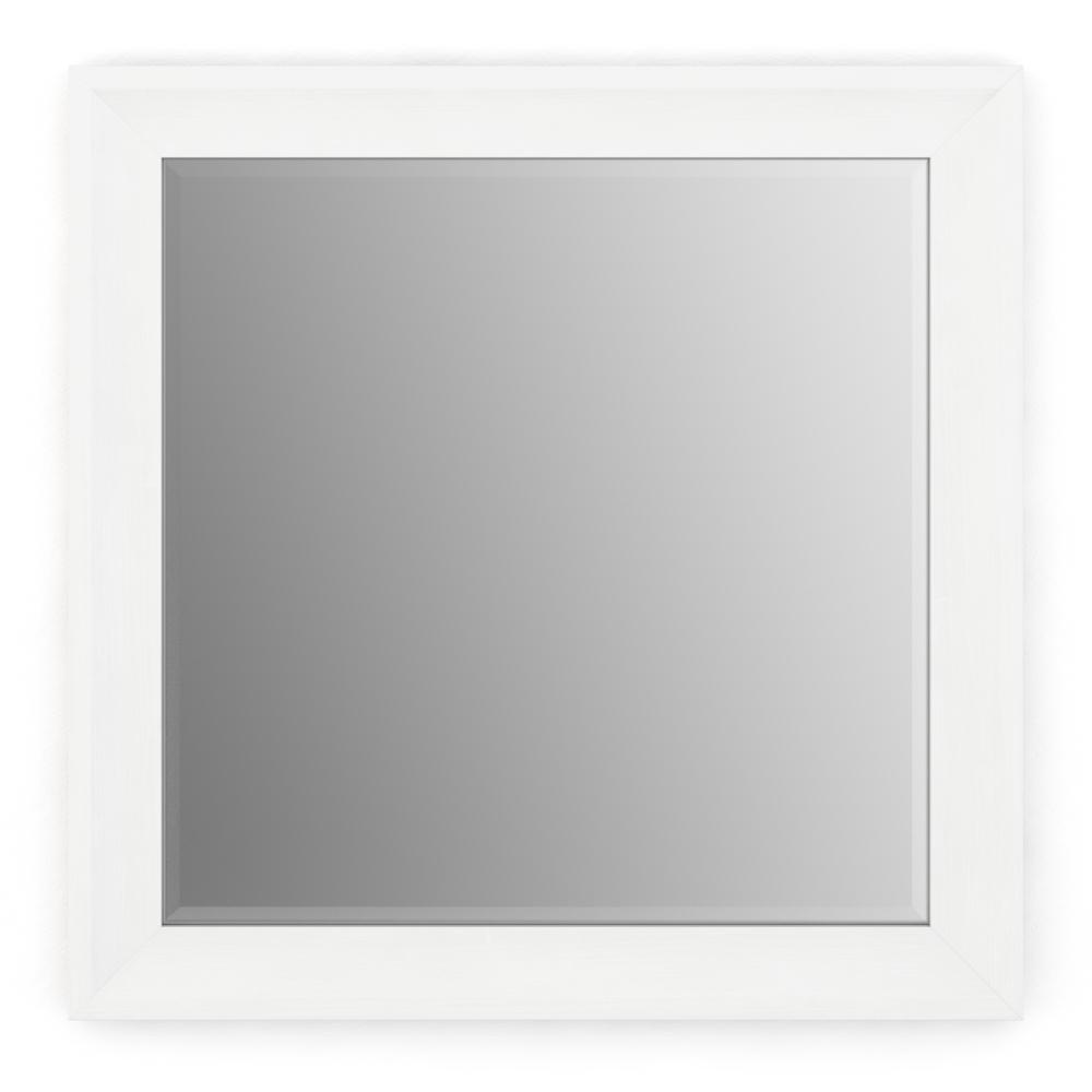 Delta 33 in. x 33 in. (L2) Square Framed Mirror with Deluxe Glass ...