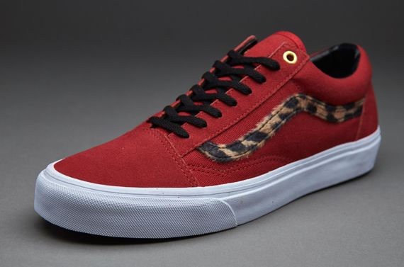 6eb68e3b0dbf Vans Old Skool - (Side Stripe) Red / Leopard | Shoes | Mens vans ...