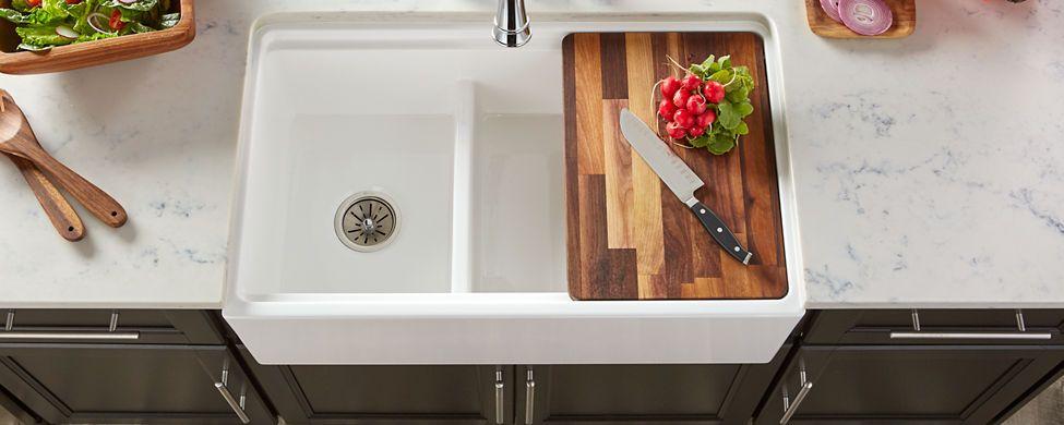 Accessories elkay kitchen island with sink fireclay sink