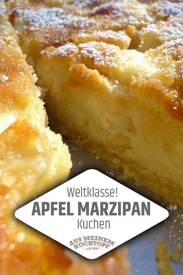 Photo of Weltklasse! Apfel Marzipan Kuchen