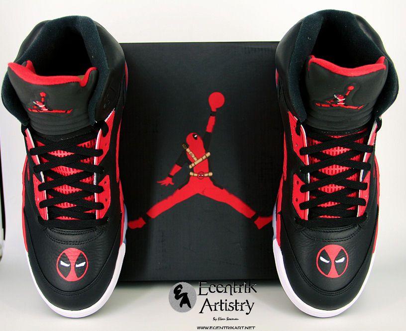 premium selection 38ec0 5f58a Deadpool Jordan 5 deadpool wadewilson xforce robliefeld airjordan  ecentrikartistry sneakers sneakerhead