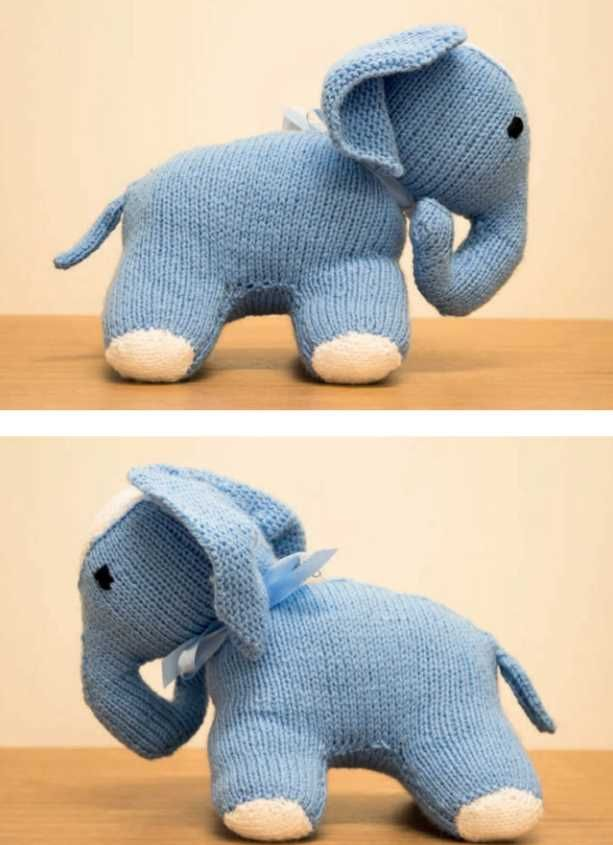 Free Animal Toy Knitting Pattern for an Elephant | Knitting patterns ...