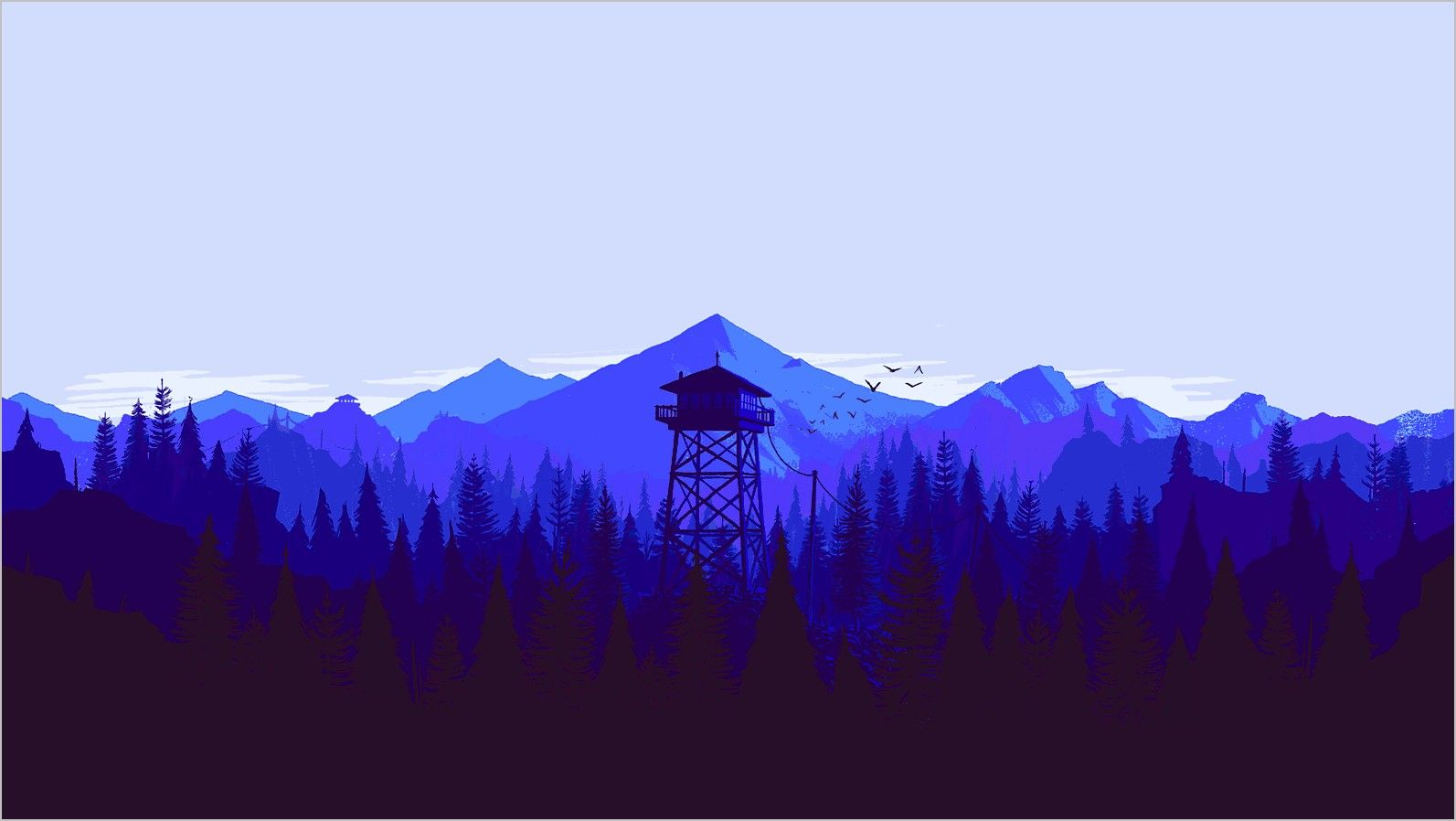Chillstep Wallpaper 4k Art Japan In 2020 Blue Background Images Weather Wallpaper Firewatch