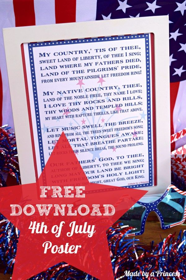 Free Download 4th Of July Poster Holiday July 4th Patriotic