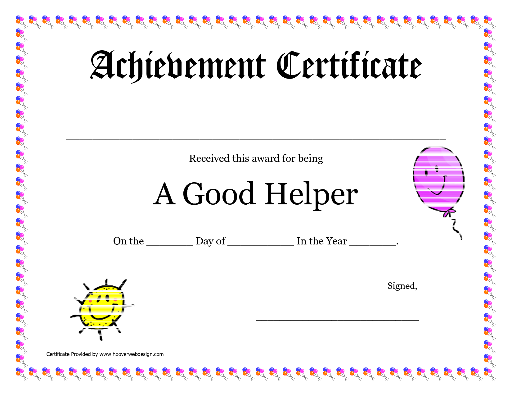 Printable Award Certificates for Teachers | Good Helper Printable ...