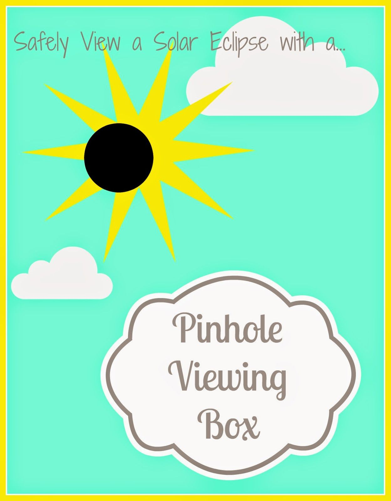 photo relating to Printable Solar Eclipse Glasses identified as Produce a Pinhole Browsing Box towards Securely Perspective the Sunlight Eclipse