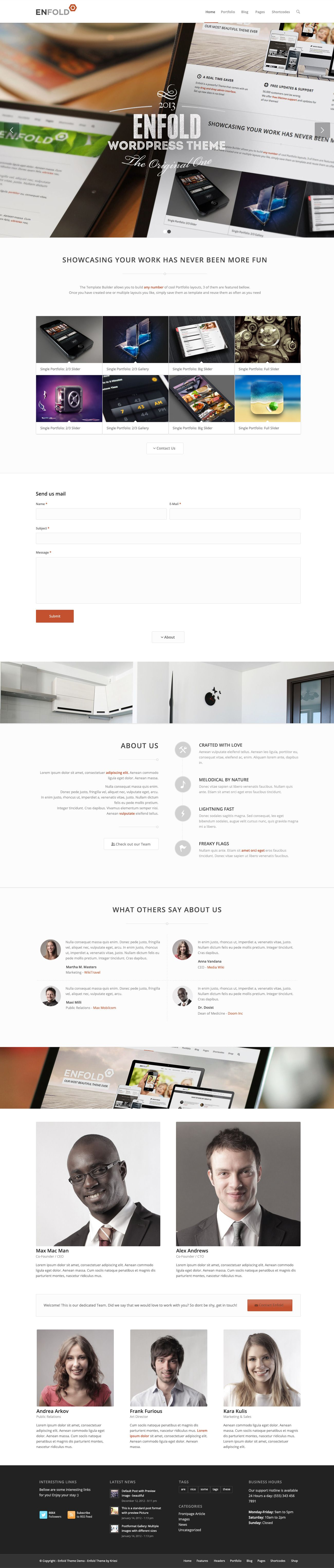 Enfold Responsive MultiPurpose Theme Corporate web