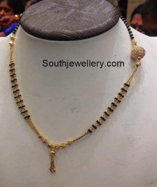 f0dd2ba5c7b13 short nallapusalu chain | Creation in 2019 | Jewelry, Chain, Beads
