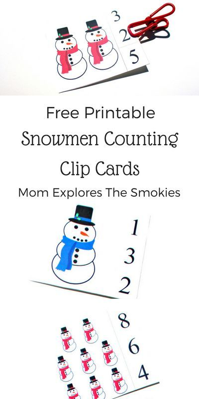 photograph relating to Printable Snowmen Pictures called Snowman Clip Playing cards Printable: Counting 1-20 Preschool