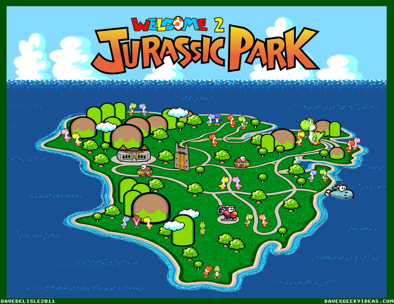 Jurassic park map yoshis island super mario world 2 by jurassic park map yoshis island super mario world 2 by davesgeekyideas lmao gumiabroncs Gallery