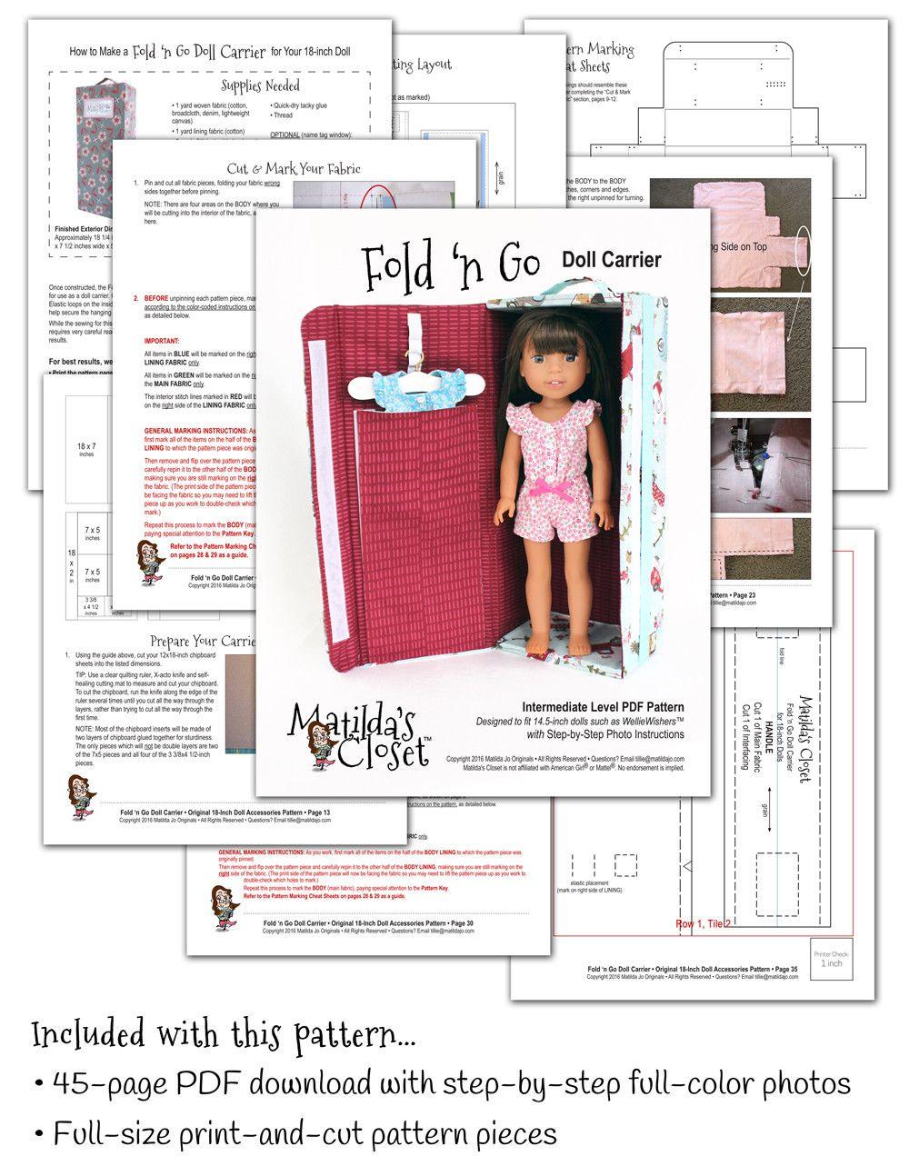 Fold \'n Go Doll Carrier 14.5\