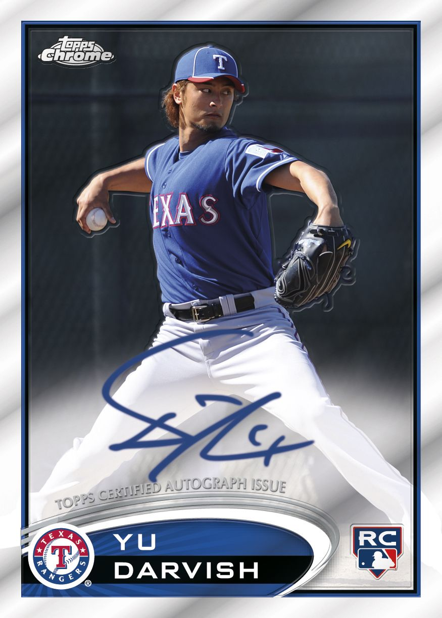 Yu Darvish Signs Autographs For Multiple Topps Baseball