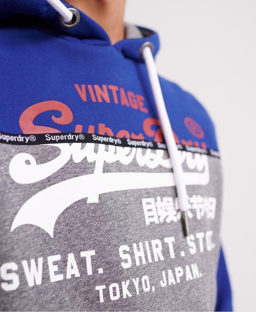 Mens Sweat Shirt Shop Split Panel Hoodie in Downhill