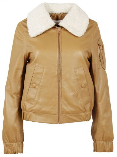 852ee15243e42 SEE BY CHLOÉ See By Chloe` See By Chloé Aviator Jacket. #seebychloé #cloth # coats-jackets