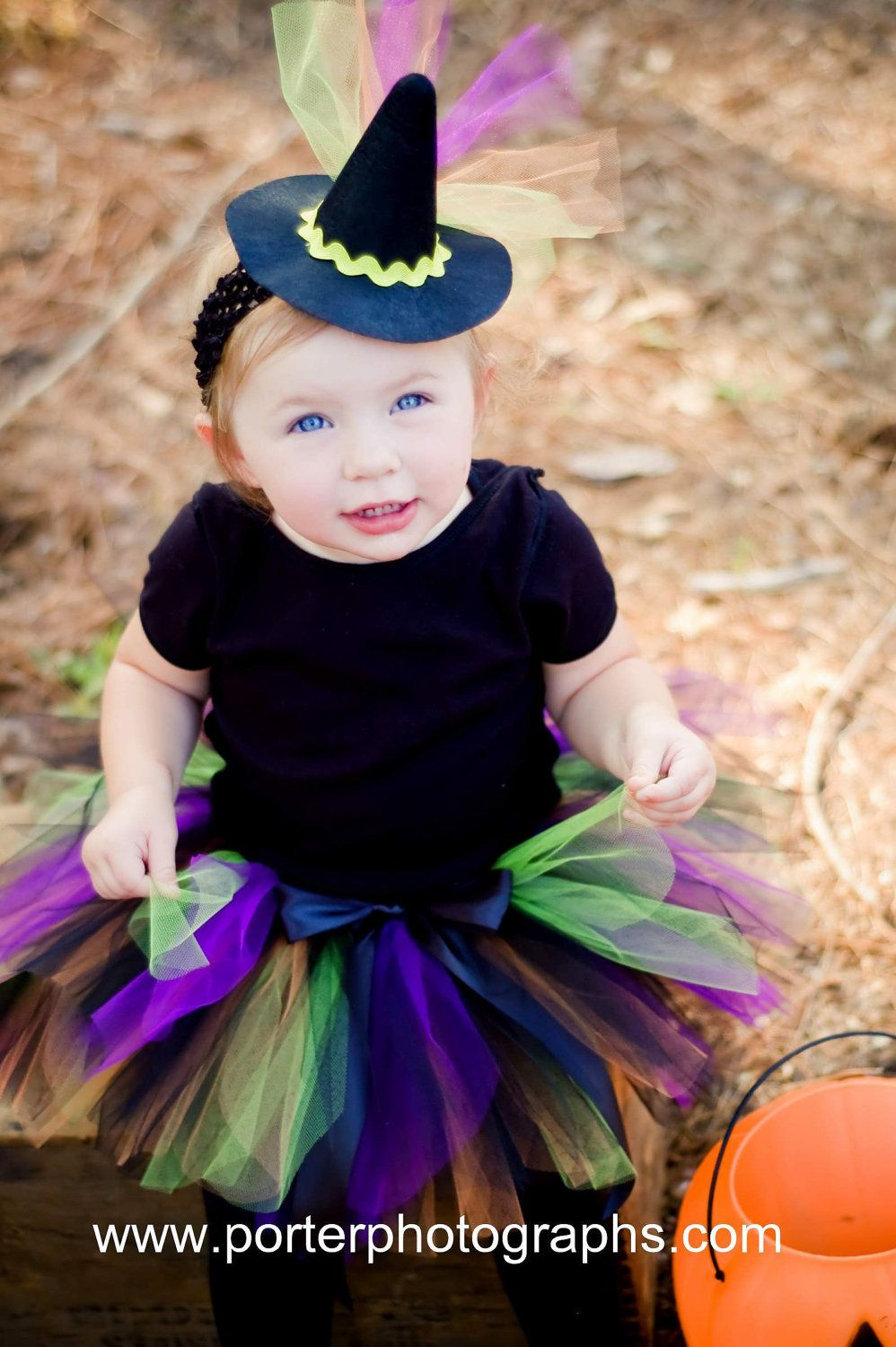 Witch Costume Tutu Baby Girls Halloween Set With Mini