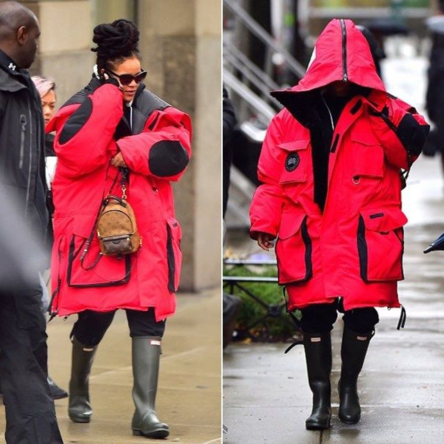 b0d1625acda Rihanna Heads to Work in Vetements x Canada Goose Parka