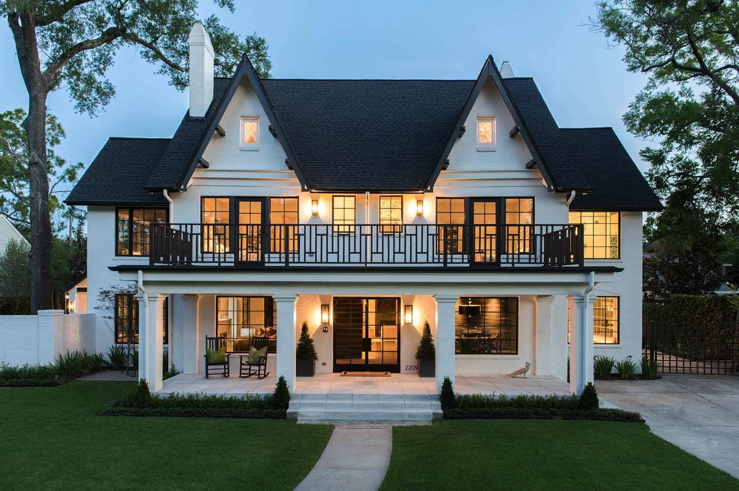 Historic Tudor-style home in Houston gets a bold m
