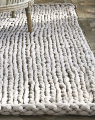 I Love The Idea Of Knitting A Big Rug With Cotton Rope Or