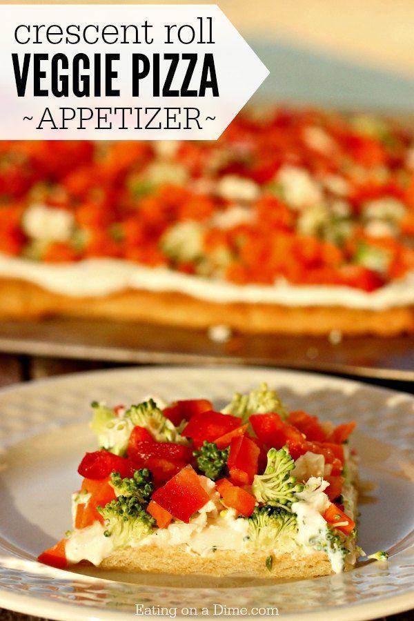 Crescent Roll Veggie Pizza Appetizer - Easy Crescent Roll Pizza Appetizer