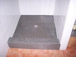 Polished Concrete Shower Pan With Images Concrete Shower