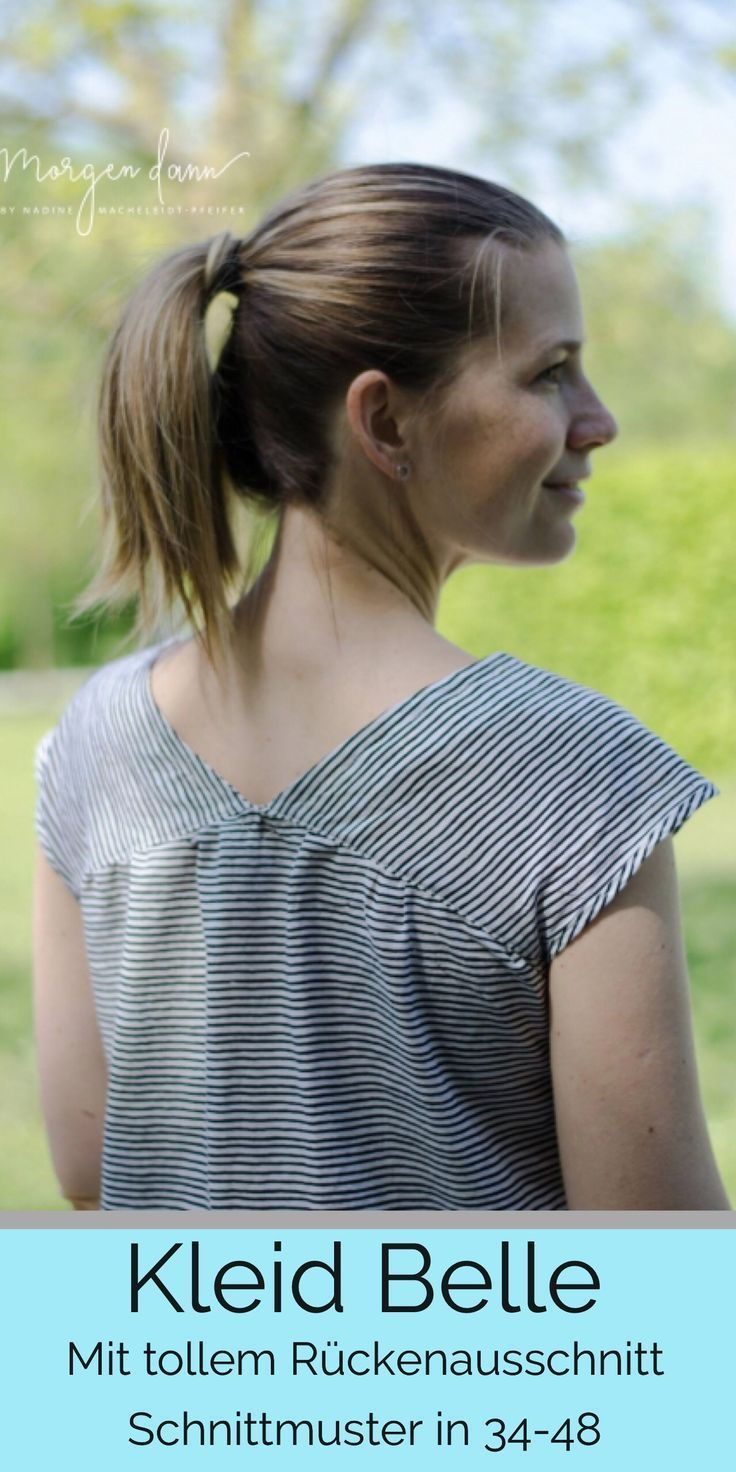 Photo of Kleid Belle – Schnittmuster für ein legeres Kleid mit tollem V-Ausschnitt • FinasIdeen