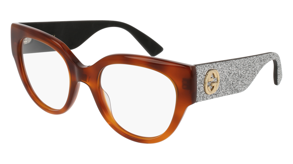 34d8c69dbb Gucci - GG0103O-004 Havana Silver Eyeglasses   Demo Lenses ...