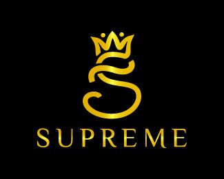 Supreme Logo Design This Logo Design Is Of A Letter S With The Crown On It In A Very Creative Style Unique Design In Golden Supreme Logo Logo Design Logo
