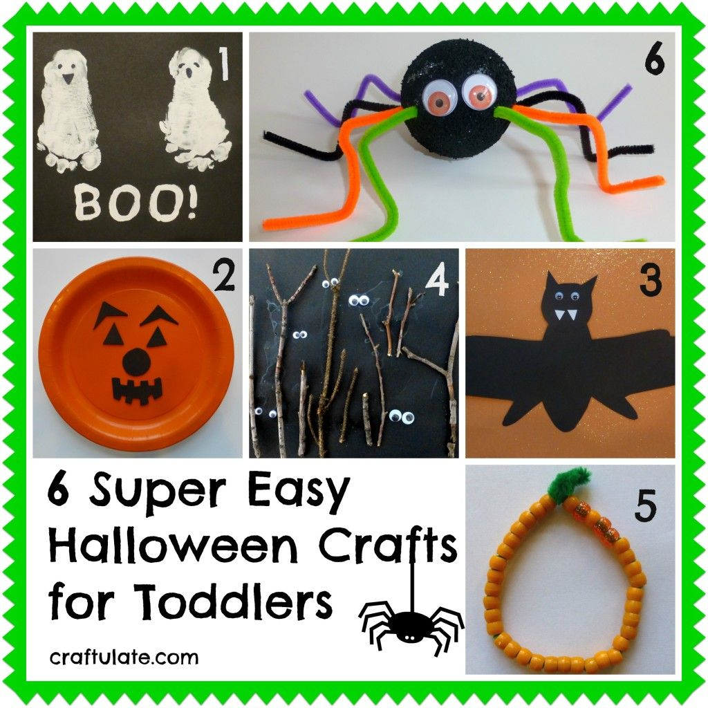 6 super easy halloween crafts for toddlers craftulate - Preschool Crafts For Halloween