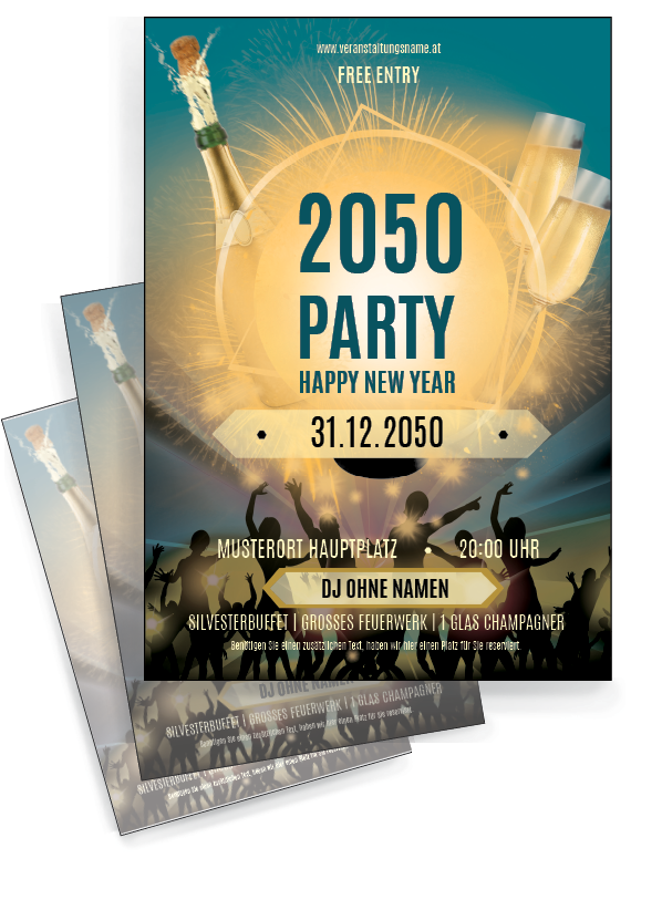 Finden Sie Moderne Gratis Vorlagen Fur Gunstige Flyer Onlineprintxxl Silvester Party Sekt Neuesjahr Vorlagen Flyer Silvester Flyer Vorlage