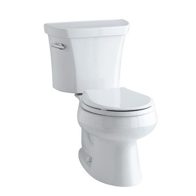 Kohler Wellworth White Watersense Labeled Round Standard Height 2 Piece Toilet 12 In Rough In Size 11464 0 Water Sense Toilet Kohler Toilet