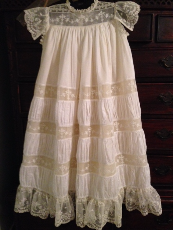 d83bffe87b64b Examples of Custom Sewing Created by Nancy's Heirloom Shoppe, Alabama Lace  Christening Gowns, Baptism