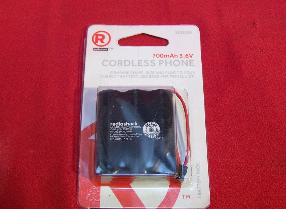 c612a6e4302a05 radioshack 2302339 cordless phone battery for 3300 3301 tl26506 36416  80-5071-00 (