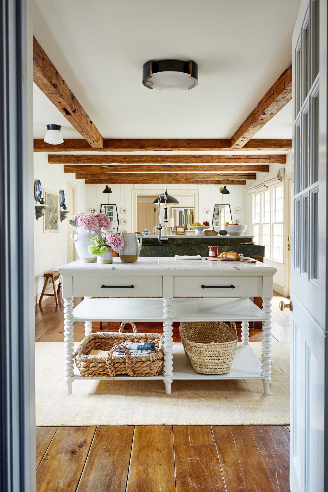A view across the kitchen over the