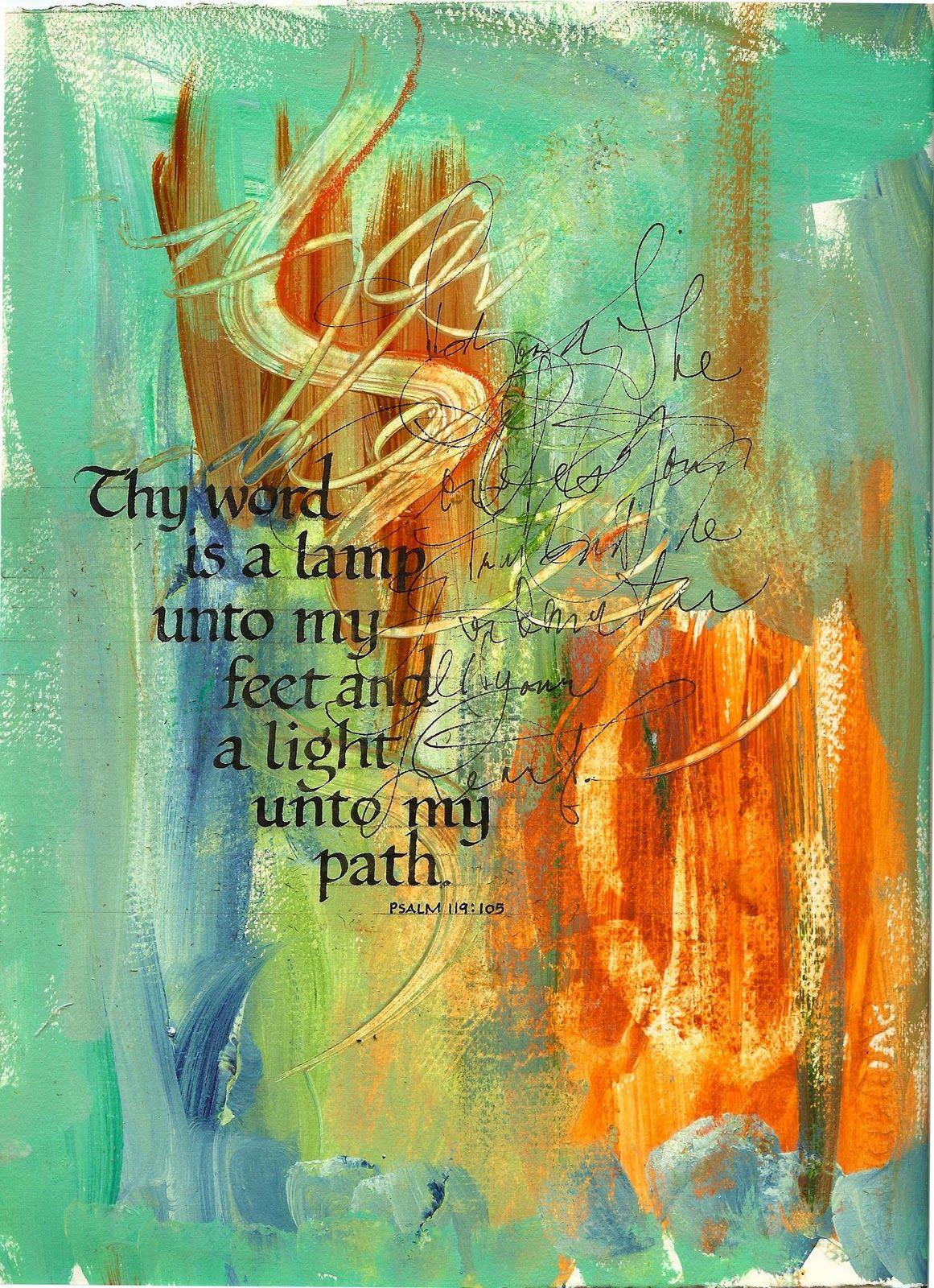 Superb Psalm 119:105 King James Version (KJV) 105 Thy Word Is A Lamp