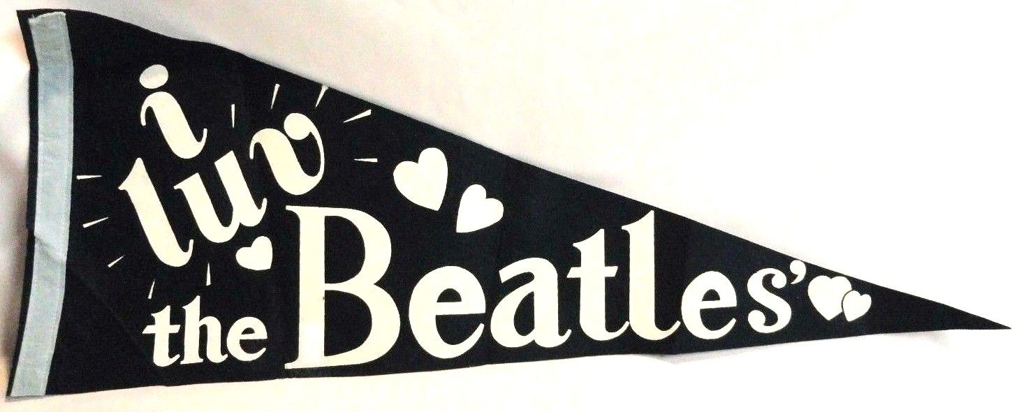 """I luv the Beatles"" pennant."