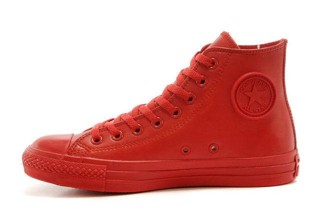 Womens Converse All Star Lux Hidden Wedge Sneaker Heels Red