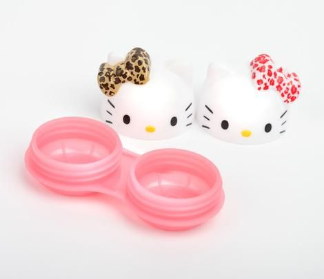 Hello Kitty Contact Lens Case: Leopard Bow $14