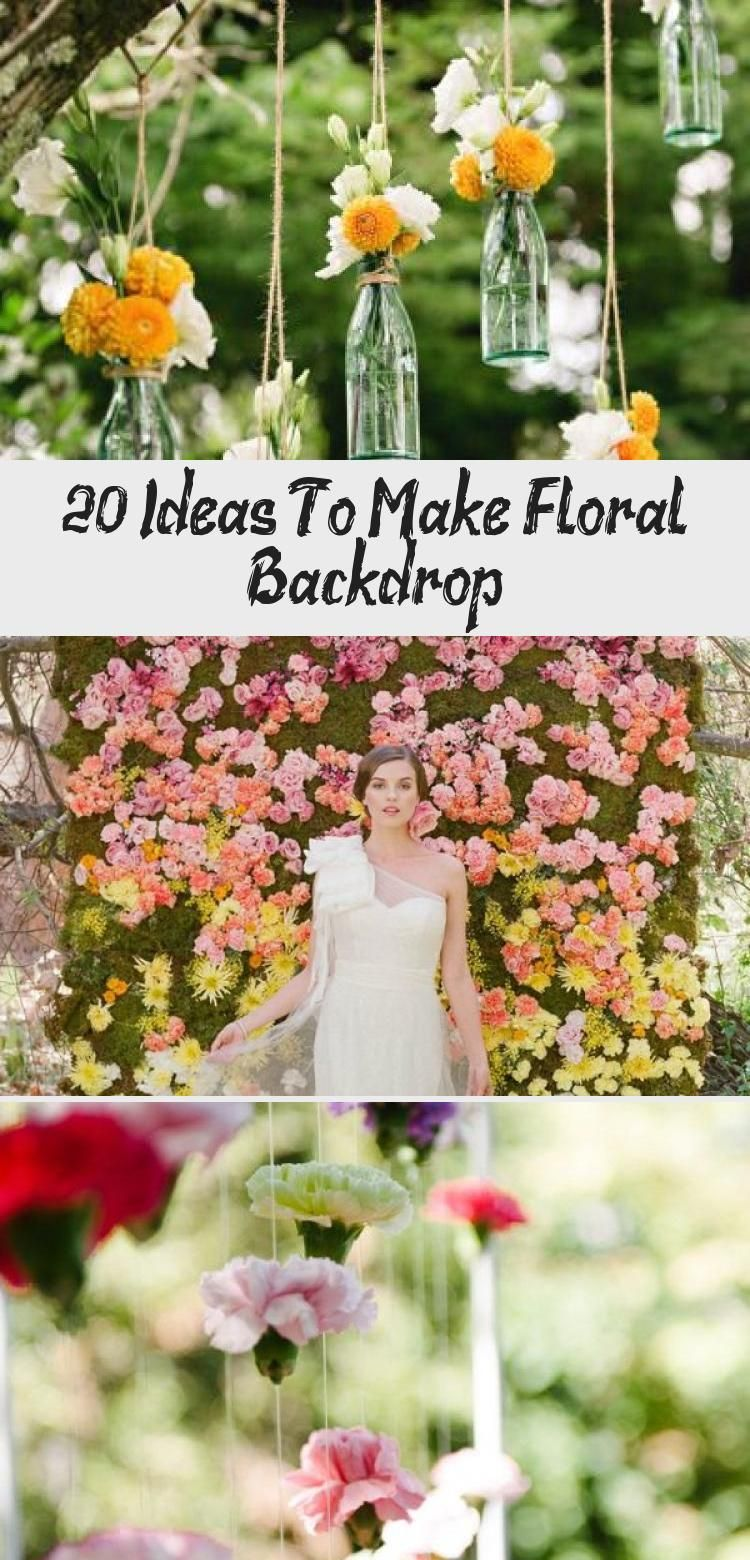 20 Ideas To Make Floral Backdrop Floral backdrop wedding