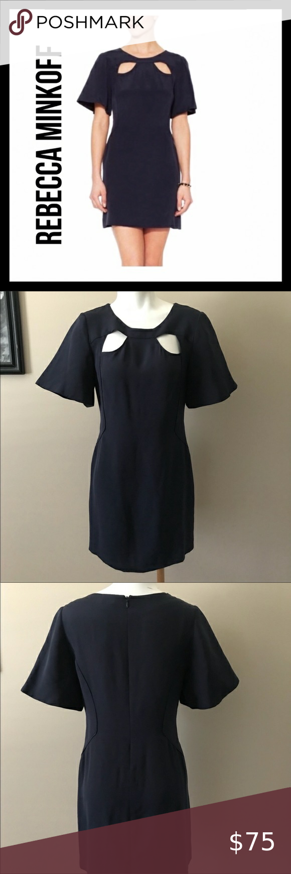 Rebecca Minkoff 💯% Silk Dress in 2021 | Long sleeve ruffle ...