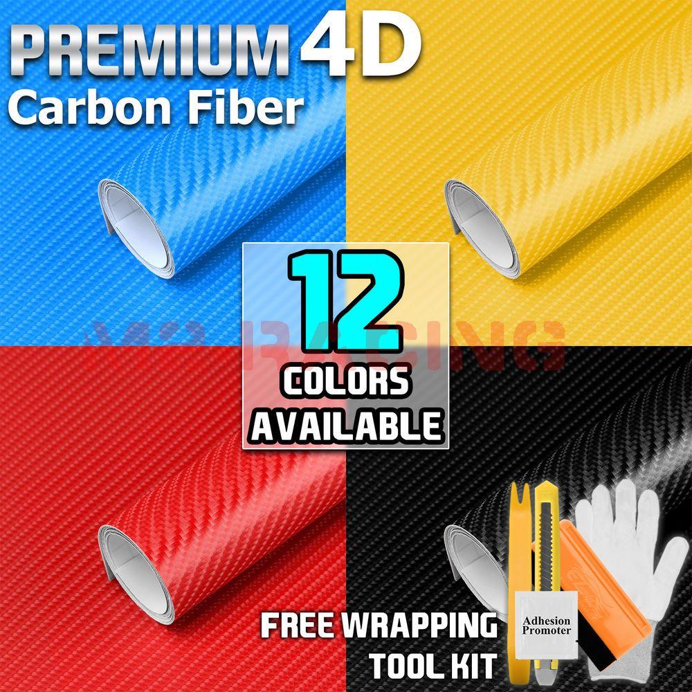 * 3D 4D 5D 7D Premium Matte Gloss Semi Black Carbon Fiber Vinyl Wrap Sticker