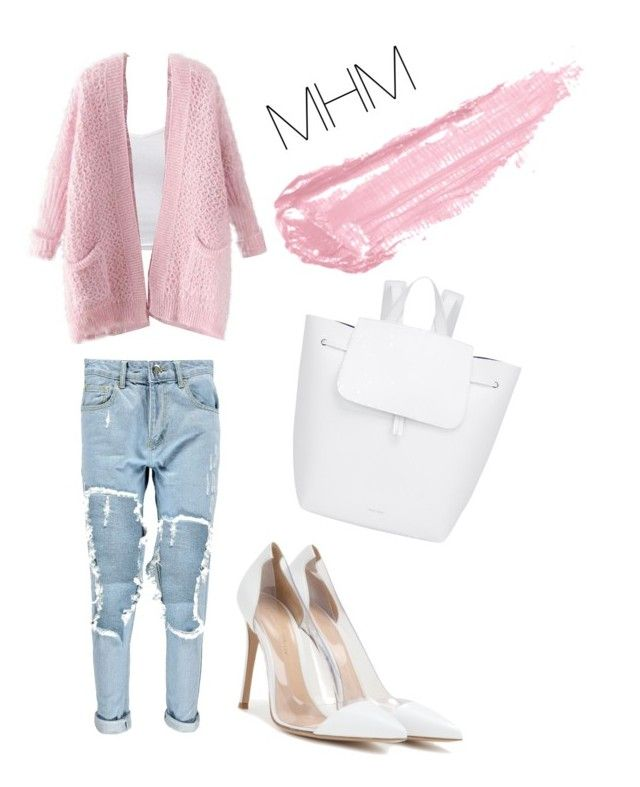 """Untitled #239"" by alinamauh ❤ liked on Polyvore featuring Boohoo, Gianvito Rossi, Chicnova Fashion, Mansur Gavriel and By Terry"