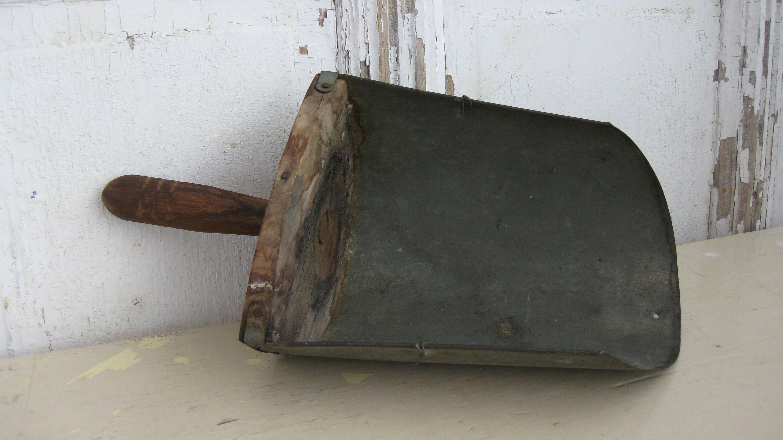 """Vintage-Look Rustic 12/"""" All Metal Country Hardware Store Grain Feed Scoop"""