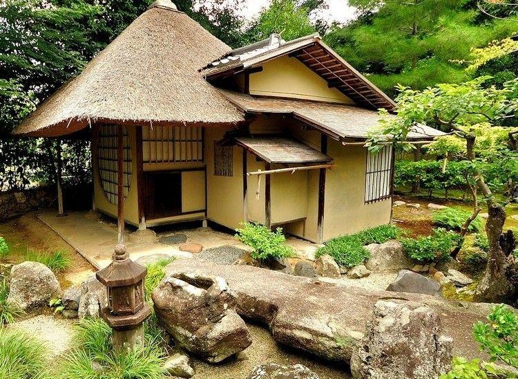 Japanische Häuser japanische häuser architektur holz schilfrohr holzfachwerk bauweise