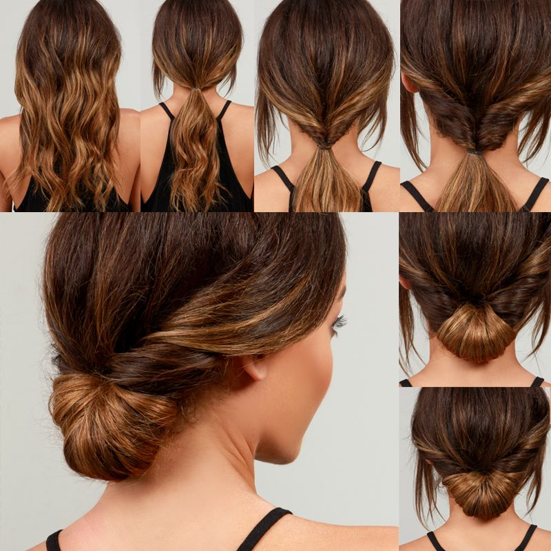 Lulus How To Simple Chignon Hair Tutorial Lulus Com Fashion Blog Medium Hair Styles Hair Tutorial Interview Hairstyles
