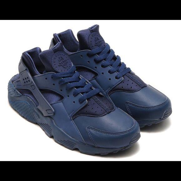 blue huaraches mens